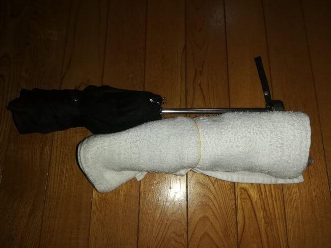 折り畳み傘添え