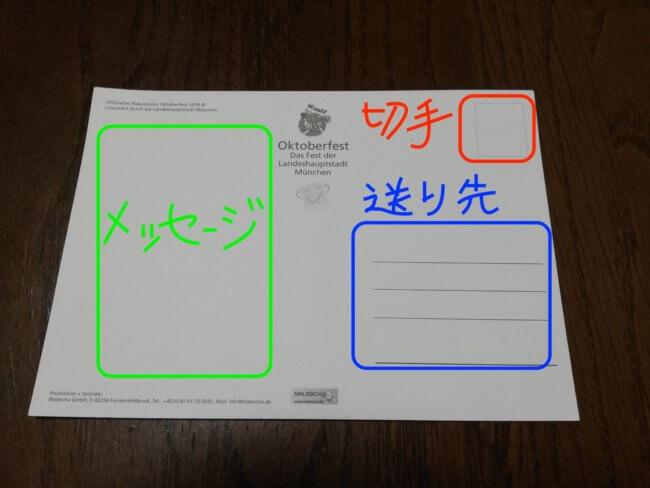 ポストカードの書き方