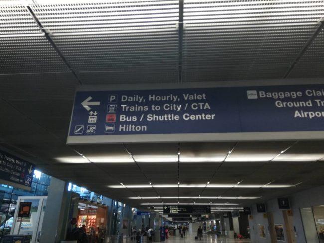 オヘア空港から市内への移動